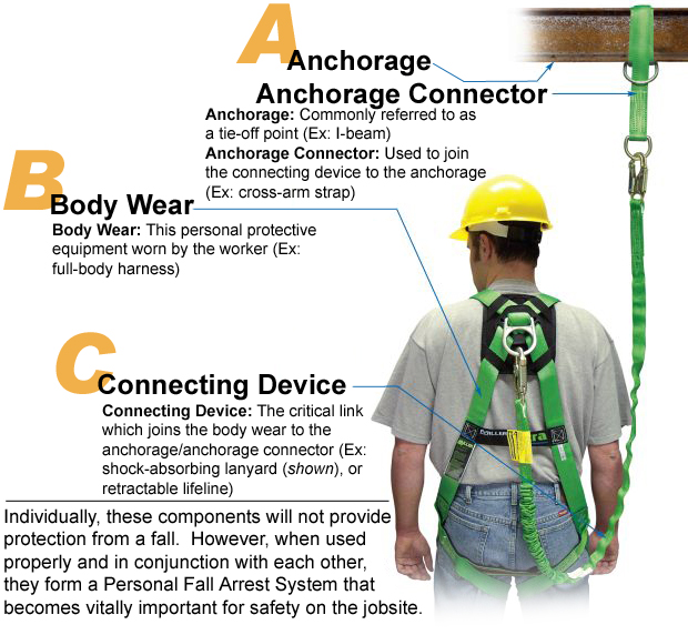 How to wear a fall harness