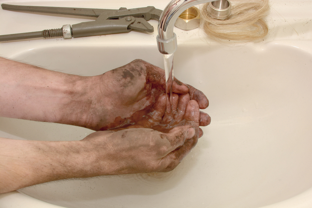 Washing Hands at a sink