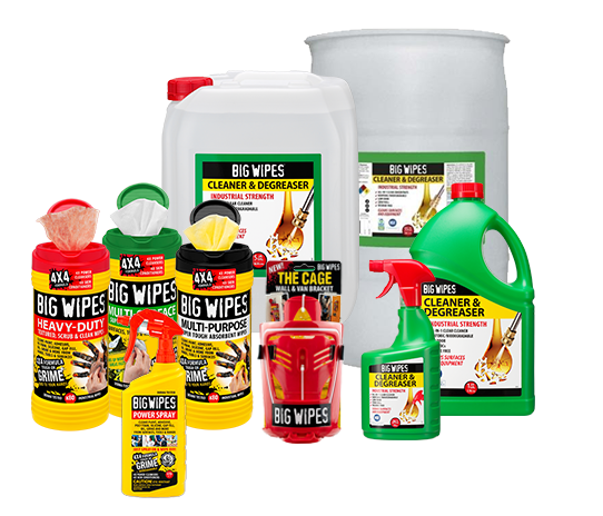 Degreaser and Big Wipes Product Family
