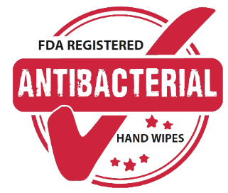 FDA Registered Antibacterial Hand Wipes